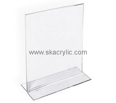 Custom design plastic stand up sign holder acrylic stand up frames 5 ...