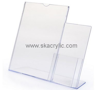 Customized acrylic table top displays table tent stands 4 x 6 acrylic sign holder SH-118  sc 1 st  Sunday Knight Acrylic Holders & acrylic table top displays table tent stands 4 x 6 acrylic sign ...