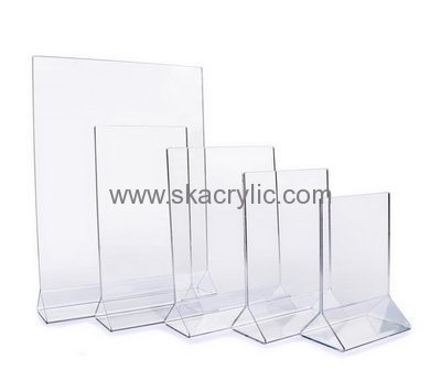 Customized Acrylic Table Tent Holder Small Acrylic Sign Holder - Plastic table tent holders