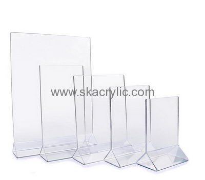 Hot selling double sided sign holder acrylic frame holders acrylic ...