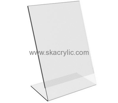 Custom Design Acrylic Shelf Sign Holder Clear Plastic Frames 85 X