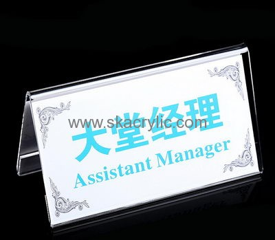 Lucite Manufacturer Customize Plastic Paper Stands Restaurant Table - Restaurant table top sign holders