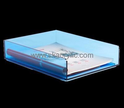 Acrylic Plastic Supplier Custom Desk File Sorter Display Holders Bh 876