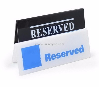 Custom design acrylic reserved table sign with printing BS-001