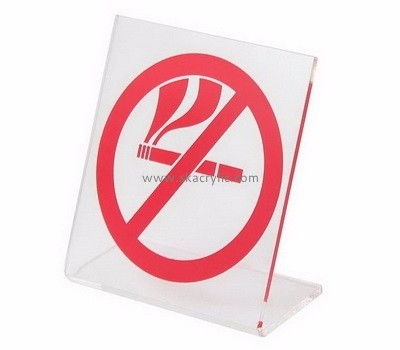 Fashion design acrylic no smoking sign board BS-002