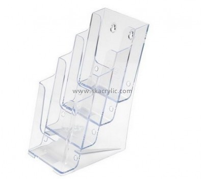 Custom acrylic brochure racks wall mounted pamphlet display plastic display holders BH-206