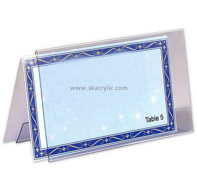 Plexiglass company customize plastic sign holder table top sign SH-122