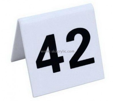 Lucite manufacturer customize acrylic holder table number sign SH-121