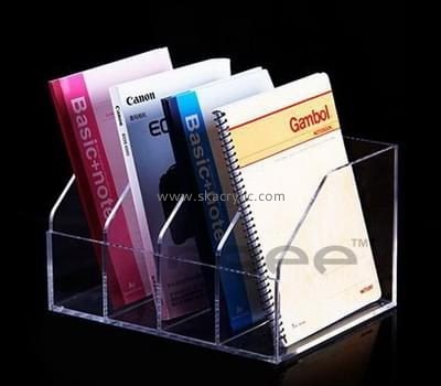 Acrylic plastic supplier custom clear acrylic plastic magazine holder BH-856
