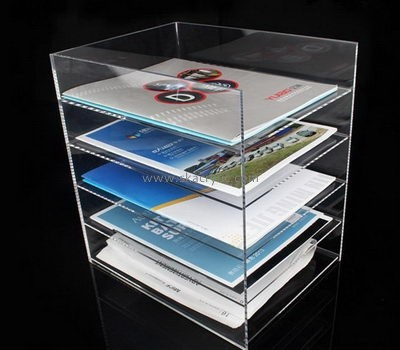 Acrylic plastic supplier custom lucite fabrication file organiser BH-987