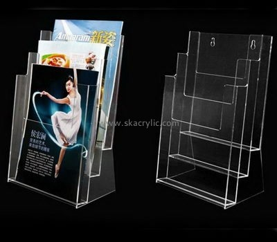 Acrylic products manufacturer custom 3 tier literature brochure holder BH-1011