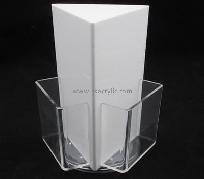 Acrylic manufacturers custom lucite tri fold brochure holders BH-1080