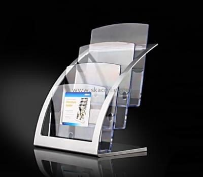 Acrylic plastic supplier custom leaflet holders free standing BH-1136