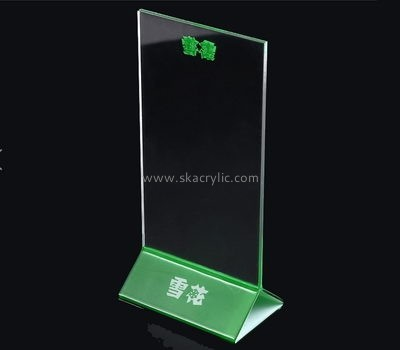 Customized clear plastic sign holder SH-282