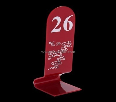Customized acrylic wedding table number holders SH-303