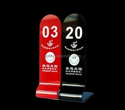 Customized acrylic table number holders cheap SH-307