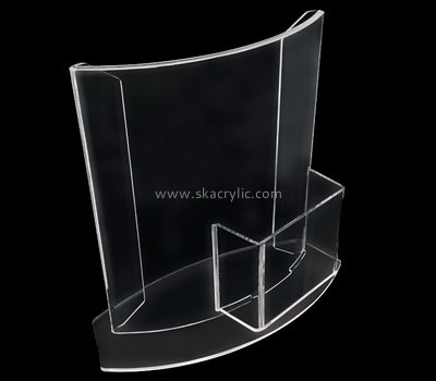 Customized plastic sign stands with business card holder SH-320