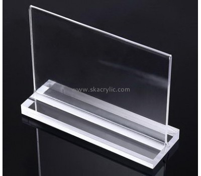 Customized clear acrylic sign stand SH-336