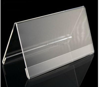 Bespoke clear acrylic shelf sign holder SH-357