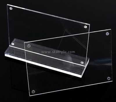 Bespoke transparent lucite table sign stand SH-369