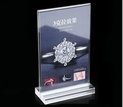 Bespoke table top plastic information holders SH-384