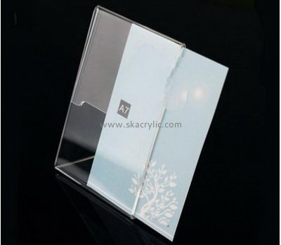 Bespoke clear acrylic price sign holders SH-392