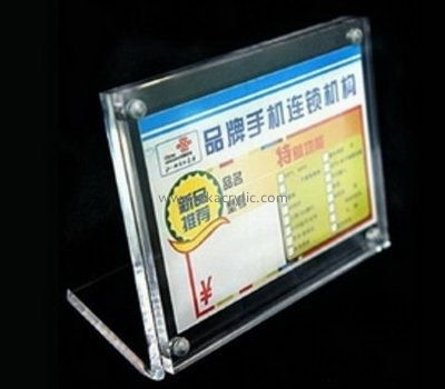 Bespoke acrylic stand up sign holder SH-446