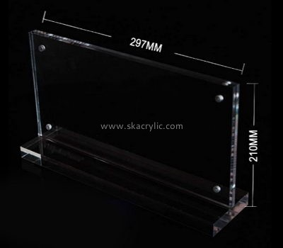 Bespoke table top double sided acrylic frame SH-520