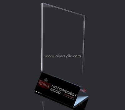 Bespoke clear small acrylic sign holder SH-526