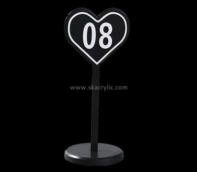 Bespoke acrylic wedding table number stands SH-537