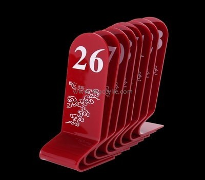 Bespoke acrylic unique wedding table numbers SH-543
