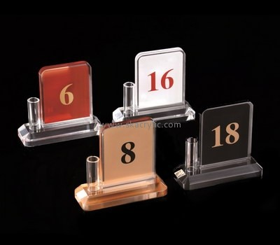 Bespoke acrylic table number holders for wedding SH-545