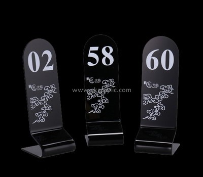Bespoke acrylic table number sign holders SH-547