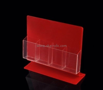 Customize red acrylic brochure holders BH-1302