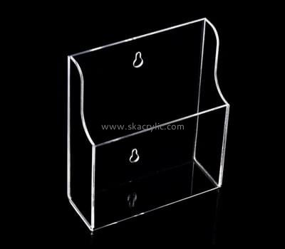 Customize lucite pamphlet holder wall mount BH-1314