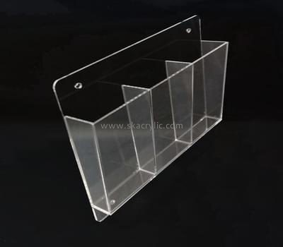 Customize clear lucite wall pocket holder BH-1321