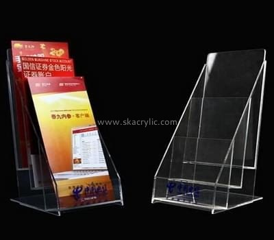 Customize lucite three tier brochure holder BH-1324