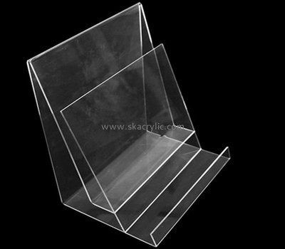 Customize clear acrylic 2 tier brochure holder BH-1345