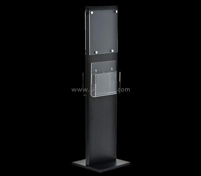 Customize black acrylic brochure holder floor stand BH-1350