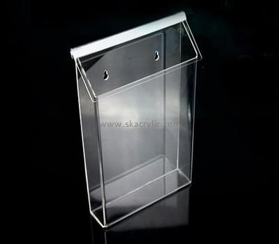 Customize acrylic single pocket wall file holder BH-1409
