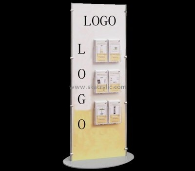 Customize acrylic floor standing poster holder BH-1432