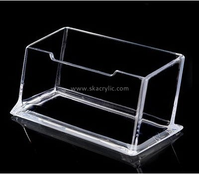 Customize acrylic business card holder stand BH-1444