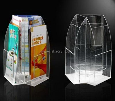Customize acrylic poster stand with brochure holder BH-1456