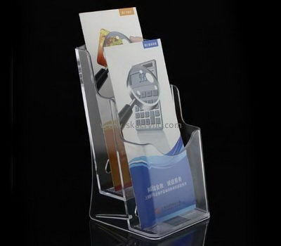 Customize lucite 2 tier brochure holder BH-1451