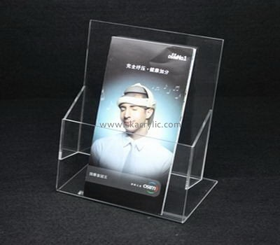 Customize lucite single pocket brochure holder BH-1457
