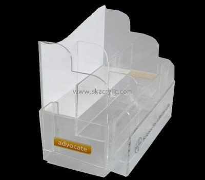 Customize acrylic literature holder with business card holder BH-1556