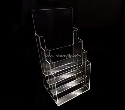 Customize perspex tiered literature holder BH-1579