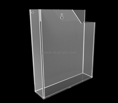 Customize acrylic a4 literature holder wall mount BH-1581