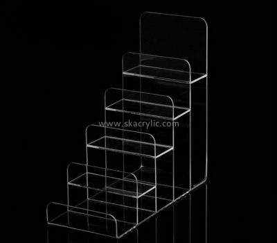Customize clear tiered brochure holder BH-1679