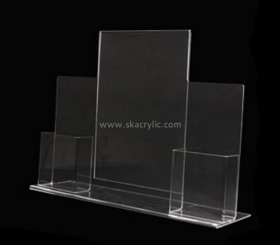Customize clear counter pamphlet holder BH-1721